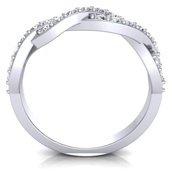 Diamond Crossover Ring