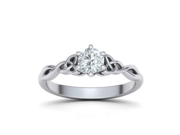 Triquetra Solitaire Engagement Ring