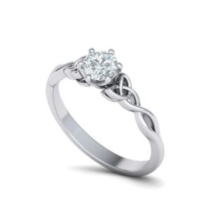 Triquetra Solitaire Engagement Ring