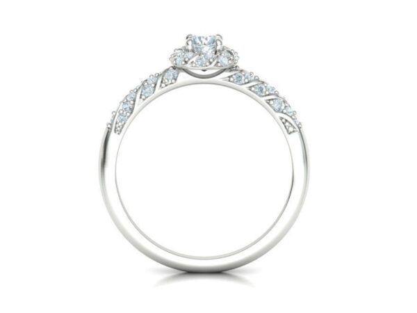 Twisting Halo Engagement Ring