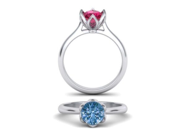 Flower Petal Engagement Ring