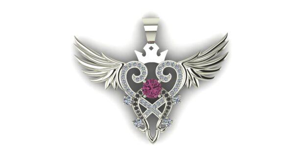 Winged Heart Pendant