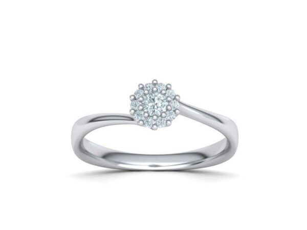 Bypass Halo Engagement Ring