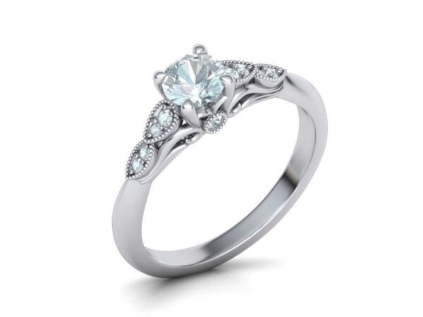 Peekaboo Cathedral Engagement Ring