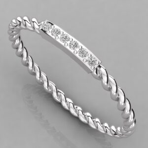 Twisted Diamond Bangle