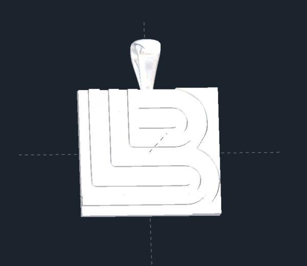 Contemporary Initials Pendant