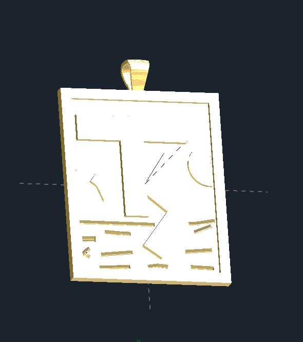 TS Initials Pendant