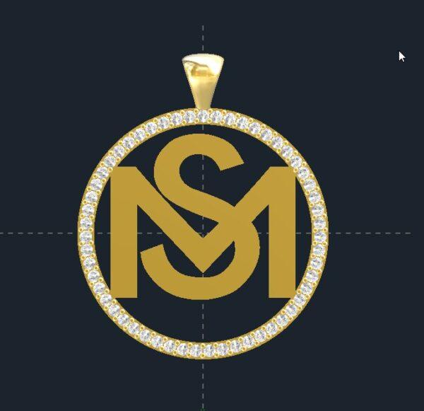 Diamond Logo Pendant