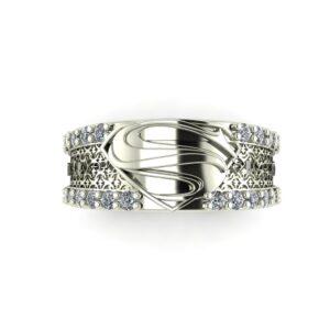 Diamond Superman Wedding Ring