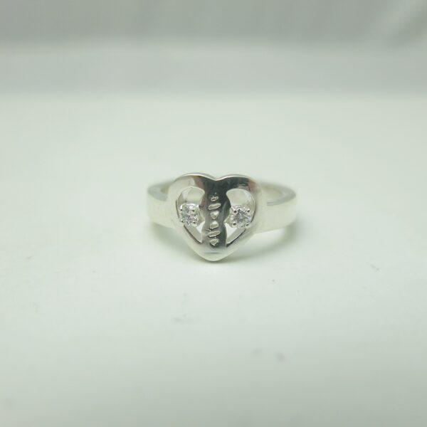 Heart Diamond Promise Ring