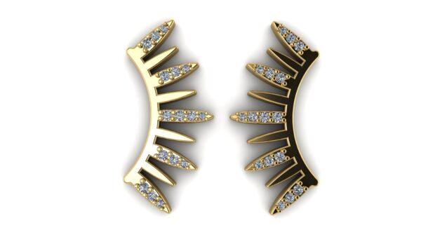 Semi-Circle Diamond Earrings