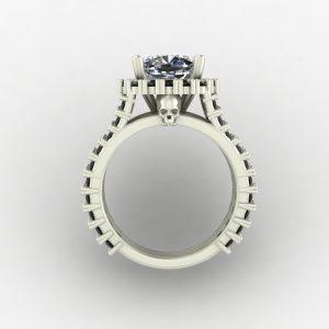 Skull Halo Engagement Ring